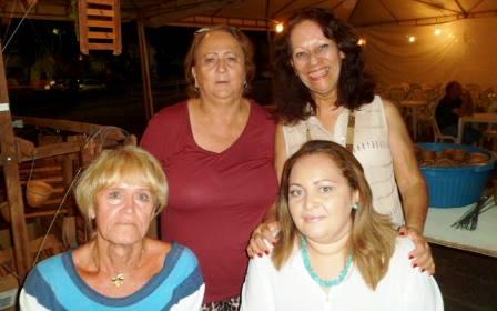 Em 1º plano, Lou Menezes (esq.) e Michelle Canário (ACEO); por trás, Selene Costa (esq.)do CPO, de Natal, e Vera Coelho, presidente da ACEO