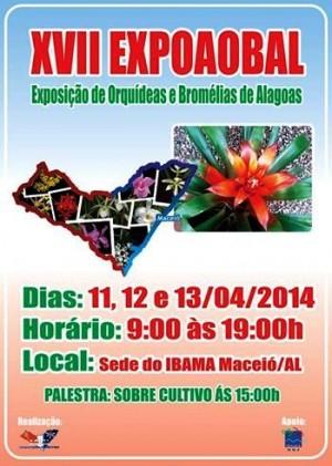 A exposição deverá atrair orquidófilos de Alagoas e estados vizinhos.