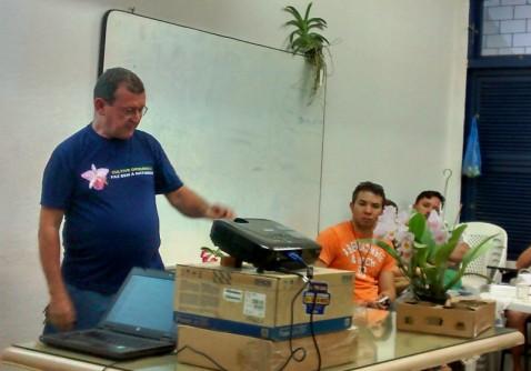 O cultivo de orquídeas em apartamento foi o tema da palestra.