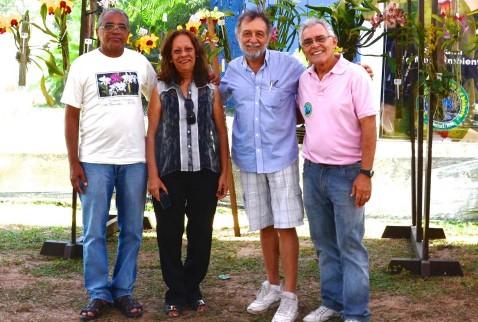 Da esq. para a dir. os juízes Ovídio (PB), Vera Coelho (CE) e Hugo (PB) e o presidente da SORN, Roberto Guerra.
