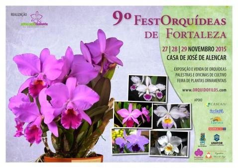 Cartaz 9º FestOrquídeas de Fortaleza