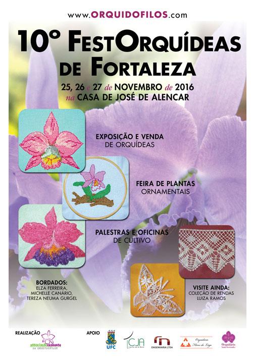 Cartaz - 10º FestOrquídeas de Fortaleza