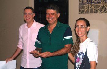 Natanael (esc.), Fernando Lima e Juliana Coelho.